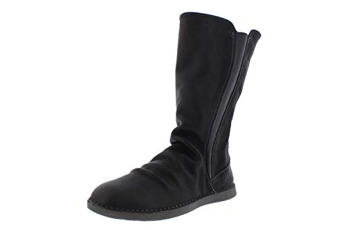 Softinos Damen Boots Teya, Frauen,Klassische Stiefel,Winterstiefel,Winterschuhe,uebergangsstiefel,Slip-ons,Grau (Anthracite),38 EU / 5 UK