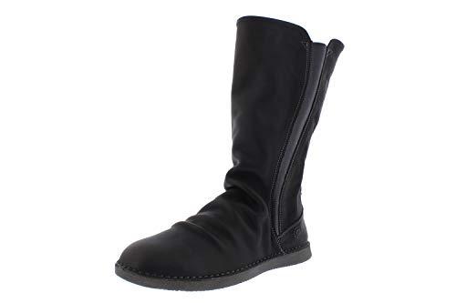 Softinos Damen Boots TEYA328SOF, Frauen Stiefel, Boots lederstiefel Freizeit,Grau(Anthracite),39 EU / 6 UK