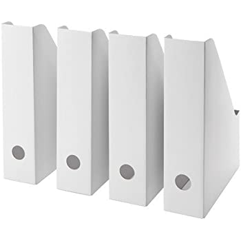 Ikea Fluns IKE-003.241.32 - Revistero en color blanco, 4 unidades: Amazon.es: Bricolaje y herramientas