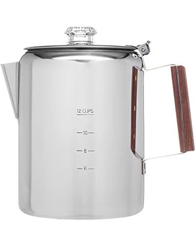 COLETTI Bozeman Camping Coffee Pot – Coffee Percolator –