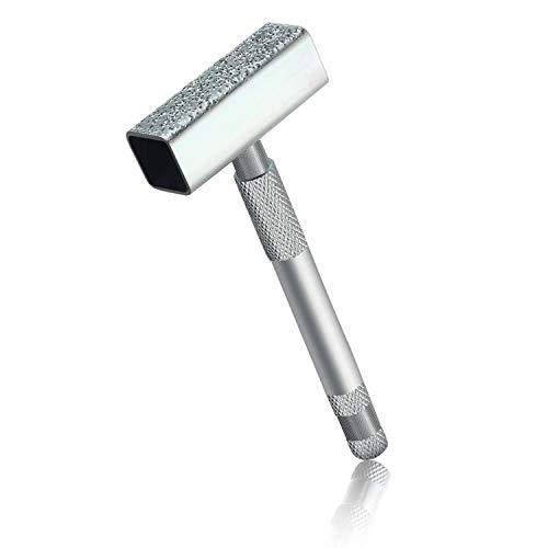 Aparador de Muelas Abrasivas, Muela Abrasiva de Diamante Aparador para Pulir, Pulir y Desbarbar, Plateado