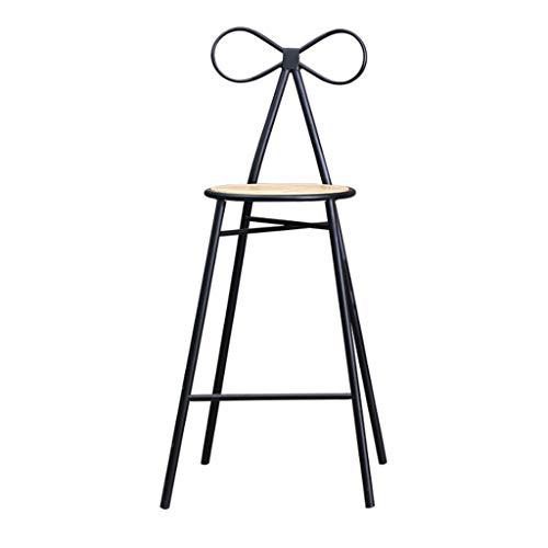 Kruk van metaal, industrieel, met stoel, vintage, voor koffie, koffie, ontbijt, kruk, rugleuning, 49 x 42 x 75 cm, stool