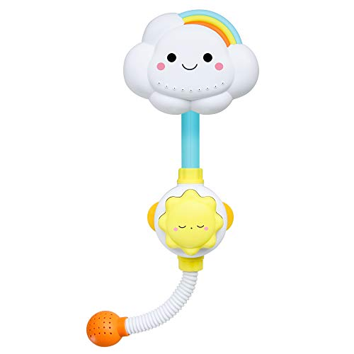 zoordo Baby Bath Toy, Lovely Cloudy Bathtub Shower Toy Water Spray Head Game for Toddlers Kids (Only Stick on Smooth Surface)