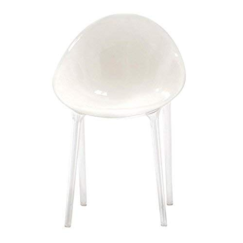 Kartell Mr. Impossible Chair by Philippe Starck with Eugeni Quitllet, Pack of 1, Matte White