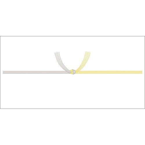ササガワ OA対応のし紙 熨斗紙 豆判7号 黄水引 京 2-57 1セット 1000枚:100枚×10冊