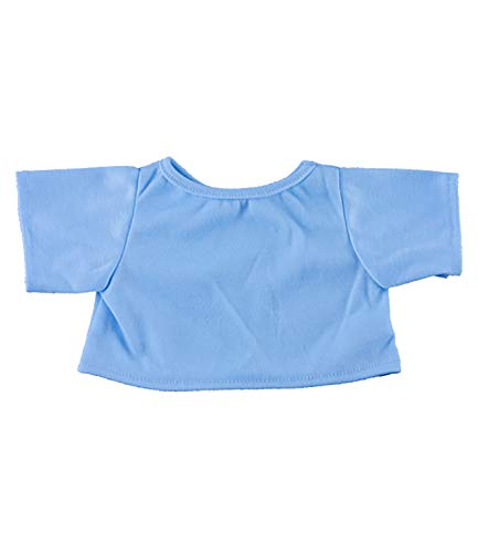 Light Blue T-Shirt Outfit Teddy Bear Clothes Fit 14