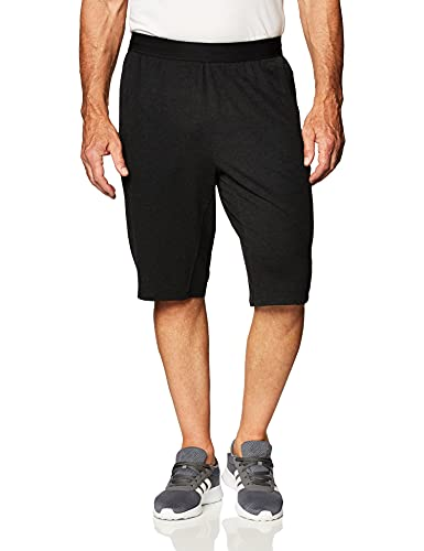 adidas City FLC Long S Pantalón Corto, Hombre, Negro, XS