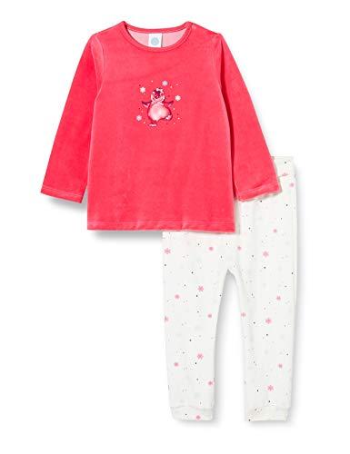 Sanetta Baby-Mädchen Schlafanzug Camellia Rose Kuschelig Warmer Nicki-Pyjama putzigen Pinguin Arwork, rosa, 086