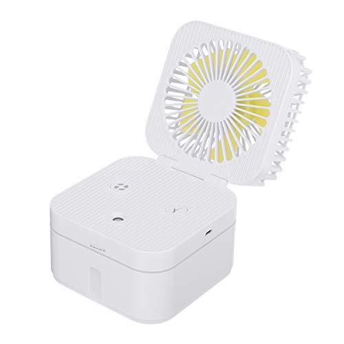 Baban Tischventilator, zerstäubbarer Ventilator mit dreistufiger Windgeschwindigkeit, Luftbefeuchter, Licht mit Farbverlauf, sehr leise, tragbar, wiederaufladbar, mit für Büro, Schule, Zug