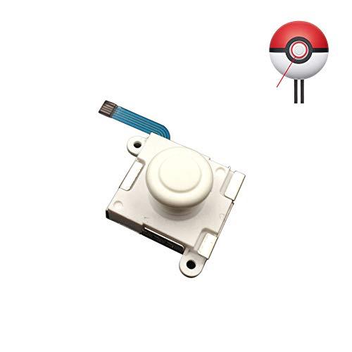 Henghx Blanco 3D Análogo Thumbstick Control Palo, Reemplazo Pulgar Joystick Piezas De Reparación para Nintendo Switch Poké Ball Plus Pokeball