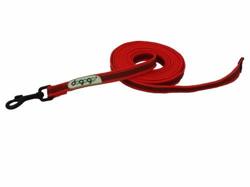 dogogo 13003-02 Gummierte Leine ohne Schlaufe, rot