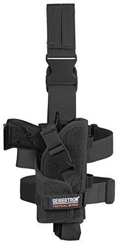 Seibertron Adjustable Tactical/Airsoft Hunting Right Handed Leg Pistol Gun Holster/Pouch Holder Drop Leg Thigh Holster