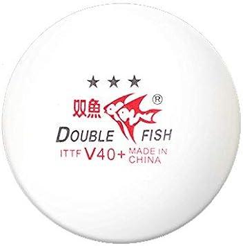 Double Fish V40 10Pcs White ITTF Approved Volant 1 Star Table Tennis Balls