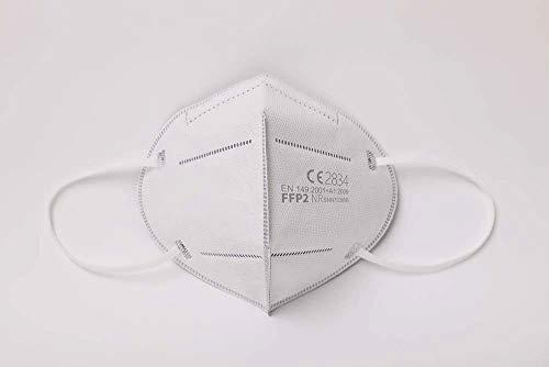 Simplecase FFP2 Maske, Atemschutzmaske, Partikelfiltermaske, EU CE Zertifiziert von Offiziell benannter Stelle CE2834 – 40 Stück, WEIß MS-2004-20212 - 2
