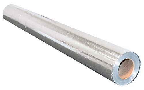 NASATECH 500sqft Radiant Barrier Reflective Foil Insulation (4ft x 125ft Roll) Industrial Strength Commercial Grade No Tear Double Sided Perforated Aluminum for Attic Insulation Residential Commercial
