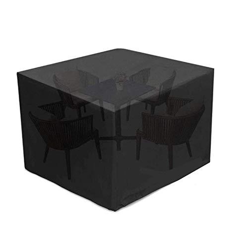Logicstring Cubiertas para Muebles De Jardín, 420D Oxford Polyester Juego De Muebles para Patio Al Aire Libre Gran Plegable Impermeable Resistente A Los Rayos UV Patio Al Aire Libre 110X110X70Cm