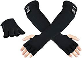 100% Kevlar Protective Sleeves- Anti Heat Scratch & Cut Resistant Arm Sleeve with Finger Opening- Safety Sleeves for...