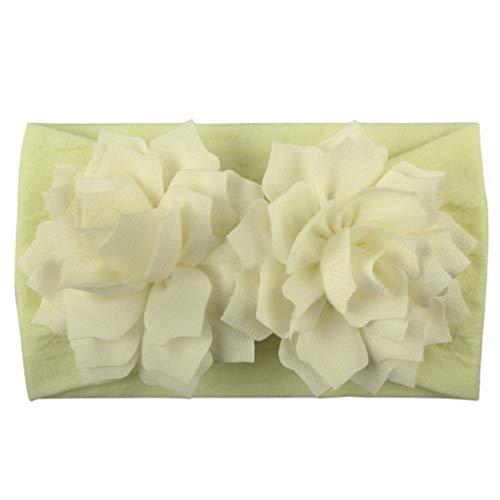 Huhu833 Baby Stirnbänder, Cute Baby Kleinkind Infant Circle Stirnband Blumen Haarband Zubehör Headwear (Beige)