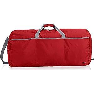 Amazon Basics Large Travel Luggage Duffel Bag, Red
