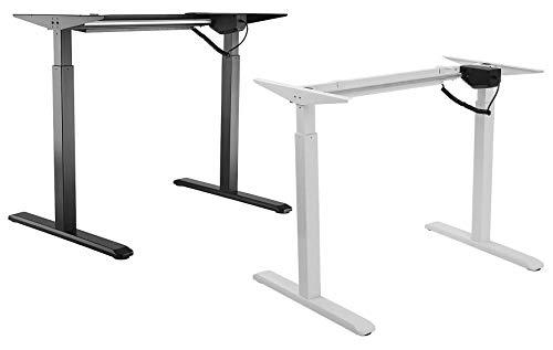 Allcam Electric Height Adjustable Desk Frame/Sit-Stand Workstation in Black (Frame Only)