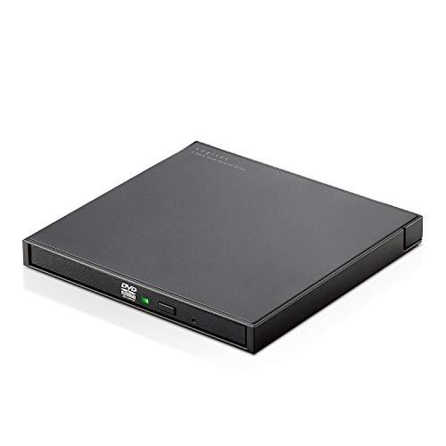 ロジテック 外付け ポータブルDVDドライブ USB2.0 CyberLink Power2Go8 for DVD付 USBケーブル付属 LDR-PWB8U2LBK/E
