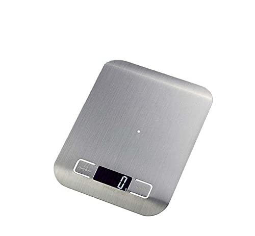 AMTN Báscula electrónica de cocina de acero inoxidable par