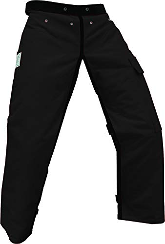 Forester Chainsaw Safety Chaps with Pocket, Apron Style (37', Black)