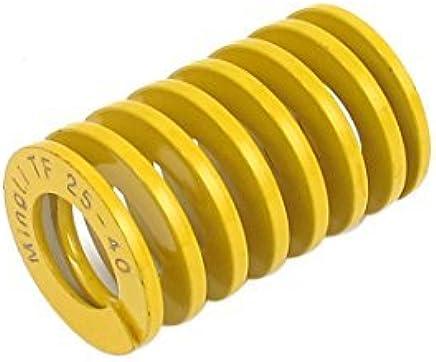 DealMux carga mais leve espiral Stamping Compression Die 25mmx40mm Primavera Amarelo