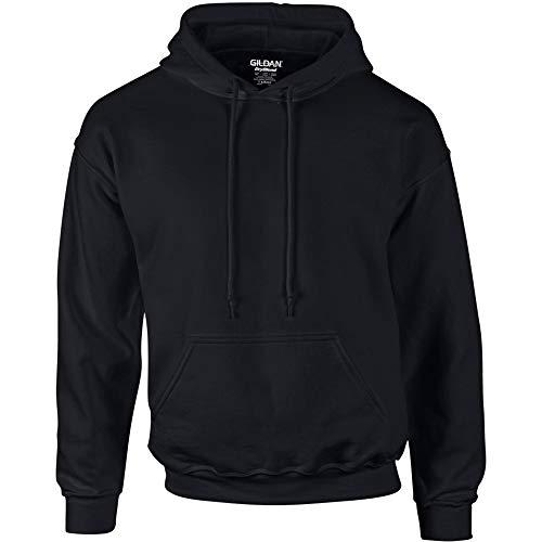Gildan Heavyweight DryBlend Unisex Kapuzenpullover / Hoodie / Kapuzensweater XL,Schwarz