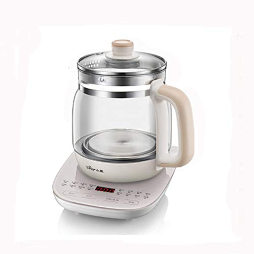 Gyt& Electric kettle health pot, 800W 1.5L large capacity multi-function electric tea kettle kettle temperature control stainless steel thick glass home tea maker,A