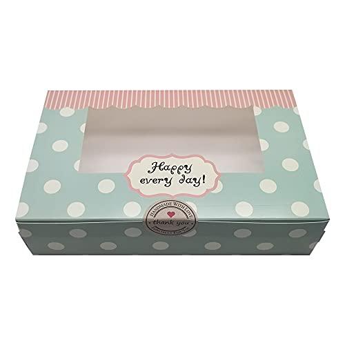 Mu Mianhua - Juego de 20 cajas de papel vacías para repostería, para tartas, pastas, galletas o magdalenas, ideales para regalo