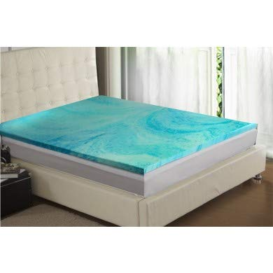 Gel Infused 2.5 Cms Memory Foam Mattress Topper with Anti Bacterial Cover - King 150 x 200 cms