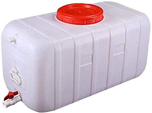 CFJJOAT Cubo de Almacenamiento de Agua Grande de 200L, Tanque de Agua de plástico para Exteriores con Grifo, Barril portátil, Barril de Vino, Barril químico Industrial para contenedor de Agua.