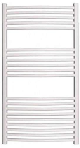 Cordivari Lisa Hydronic Towel Warmer w/Valve kit White Straight 20''x48'' Radiator