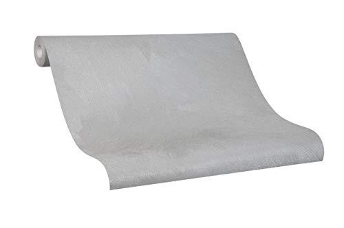 Tapete Silber Struktur - Uni - Colani Evolution - für Wohnzimmer, Schlafzimmer oder Küche - Made in Germany - 10,05m X 0,70m - Premium Vliestapete - 56330