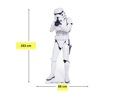 Star Cutouts SC472 Stromtrooper Official Star Wars Party Collectors Item Lifesize Cardboard Cut Out of Stormtrooper 183cm Tall, Multicolour