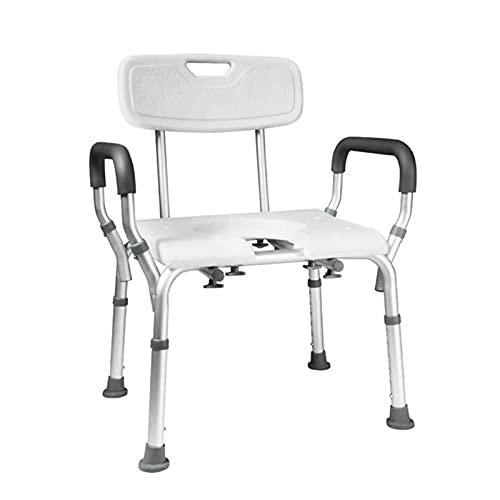 Massage-AED Duschsitz Lehne Für Badewanne Mit Rückenlehne rutschfest Höhenverstellbar Mit Rückenlehne, WC-Stuhl Oder Toilettenstuhl Für Behinderte, Senioren Senior
