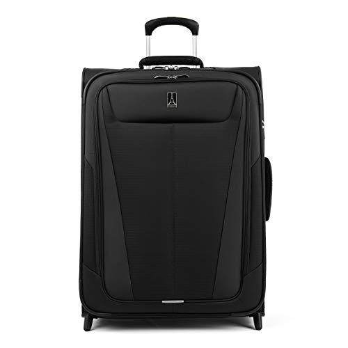 Travelpro Maxlite 5 Softside Lightweight Expandable Upright Luggage, Black, Checked-Medium 26-Inch