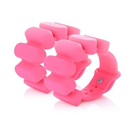TOSAMC Durable Adjustable Wrist Weights - Wearable Weight Bracelet Intensify Fitness, Exercise, Walking, Jogging, Gymnastics, Aerobics, Yoga, Gym; 2pics Set. (Pink)