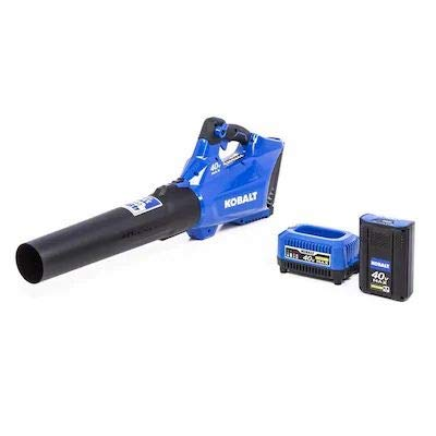 Kobalt 40-Volt Lithium Ion 480-CFM 110-MPH Medium-Duty Cordless Electric Leaf Blower (Battery and Charger Included)