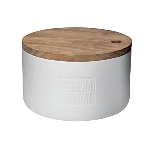 Räder Brottopf Geheimvorrat Porzellandose mit Holzdeckel