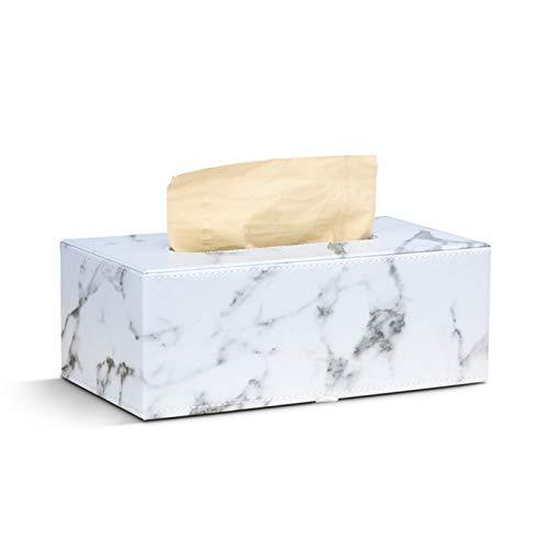 Caja de pañuelos de Cuero,Caja de Pañuelos Caja de Cuero para Toallas de Papel para Decoración Hogar y Oficina Caja de Papel de Seda Funda de Caja de pañuelos de Cuero Rectangular para el hogar ⭐