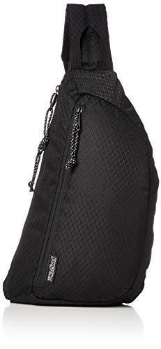 JanSport City Sling Crossbody Bag - Versatile Backpack, Ideal Travel & Day Pack, Blacktop