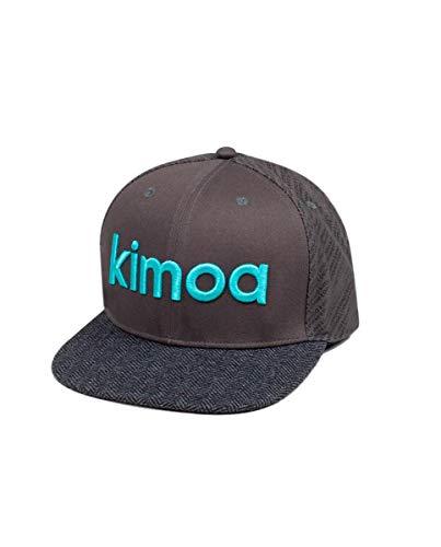 Kimoa - Plana Gorra de béisbol, Gris, Estándar Unisex Adulto