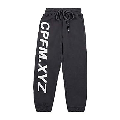 NAGRI Boy's Cotton Sweatpants CPFM.XYZ Pull On Jogger Sweatpants with Pockets 6-7,Grey