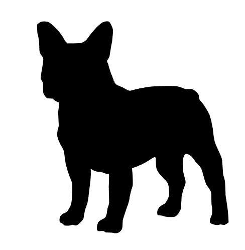 Desconocido Vinilo de Corte Pegatina Bulldog Frances 10x9cm (Negro)
