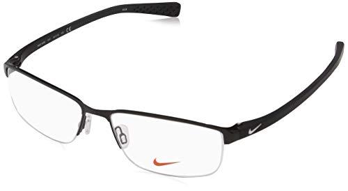 NIKE 8098 010 56 Monturas de gafas, Black/White, Hombre