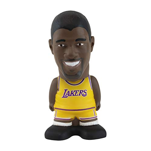 Magic Johnson Los Angeles Lakers Sportzies, NBA Legends Action Figure, Toy Minifigure, Collectible Figurine - Great Gift for Basketball Sports Fans