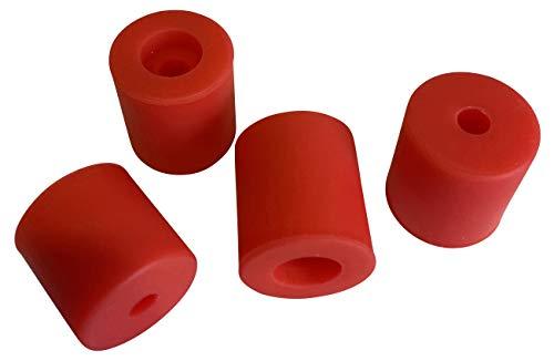 3DPLady | Silikonpuffer (Silikondämpfer) für 3D Drucker 1x16mm + 3x18mm Zubehör für Ender 3 Serie V2,Pro (Rot)