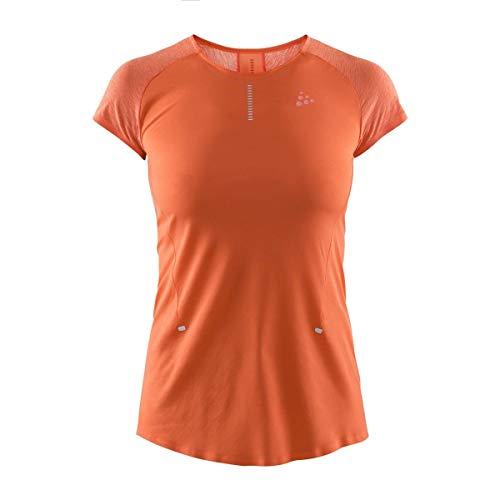 Craft Nanoweight T-shirt voor dames, oranje, zilver